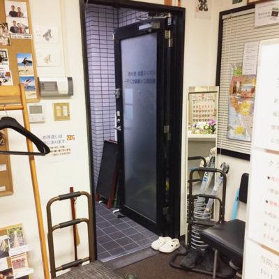 基本的に入口のドアは常に開放